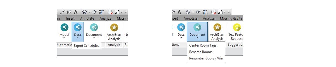 IDDA Toolbar - Data and Document